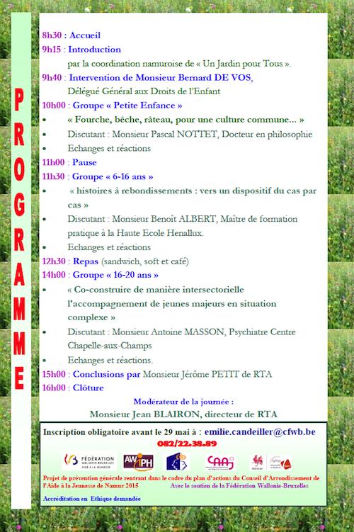 Jardin Pour Tous Bilan Et Prolongation Le 11 Juin 2015 Sypa