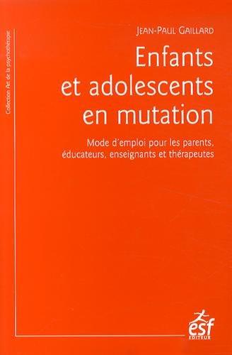 """Journée d'études 2015: """"Enfants et adolescents en mutation"""" Jean-Paul Gaillard"""